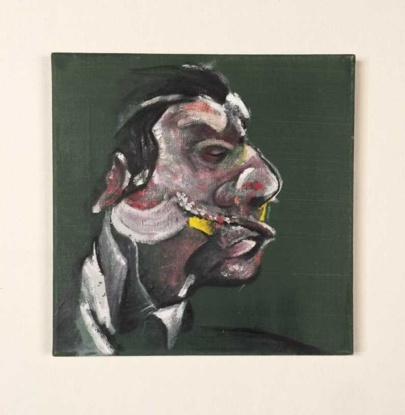 """Original Painting on Canvas, Signed """"Francis Bacon"""""""