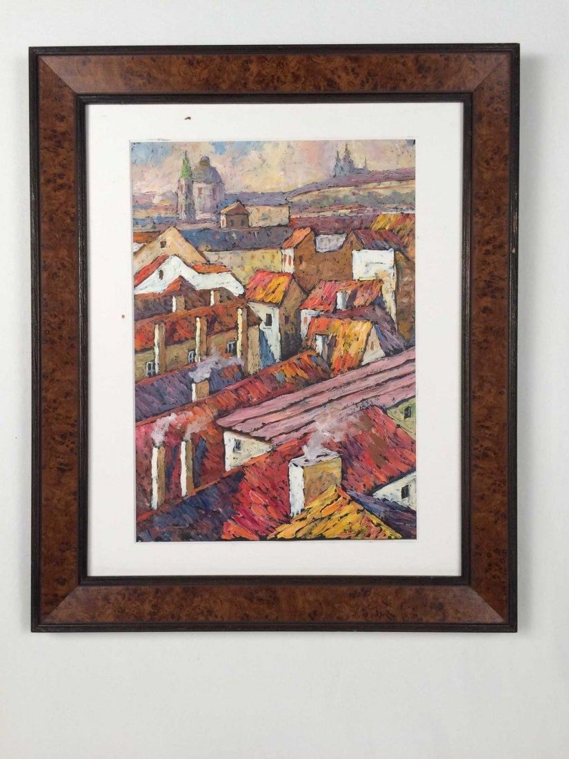 "Original Oil on Paper, Signed ""Artamonov"" -- Russian"