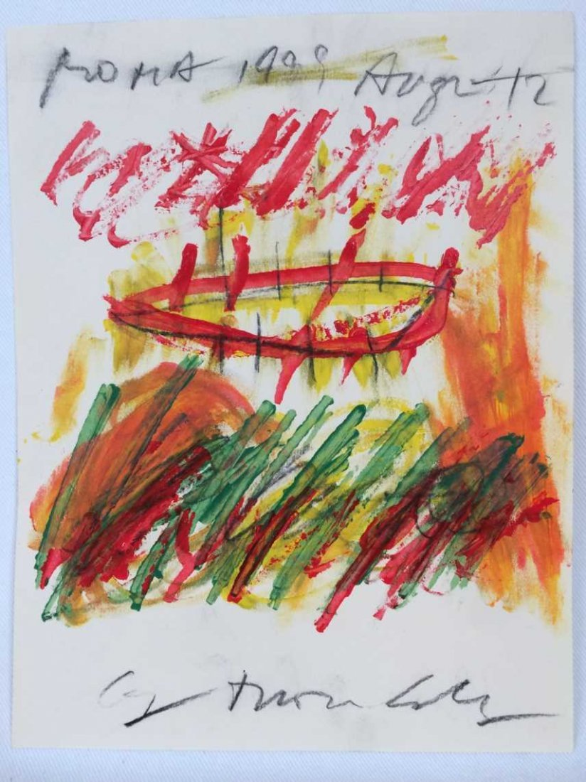 """Original Painting on Paper Signed """"Cy Twombly"""""""