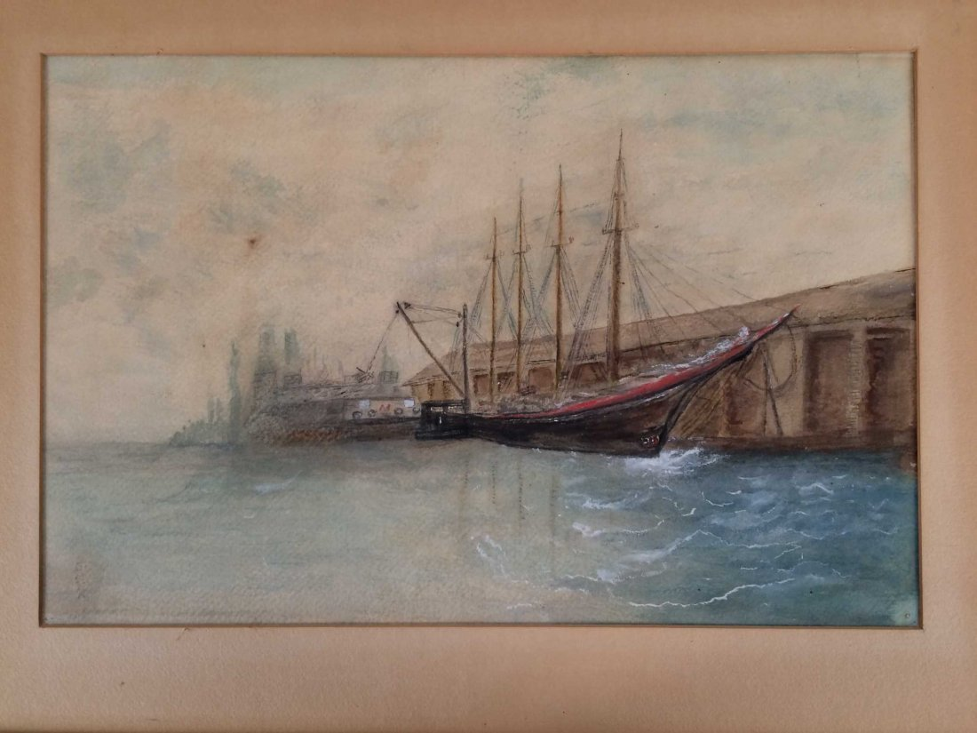 "Original Watercolor on Cardstock, Signed ""G. King"""
