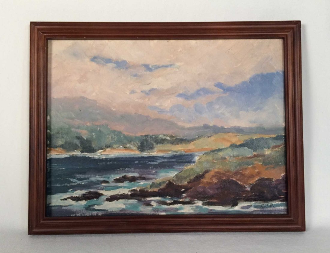 """Original Painting on Artist Board Signed """"G. W. Sotter"""""""