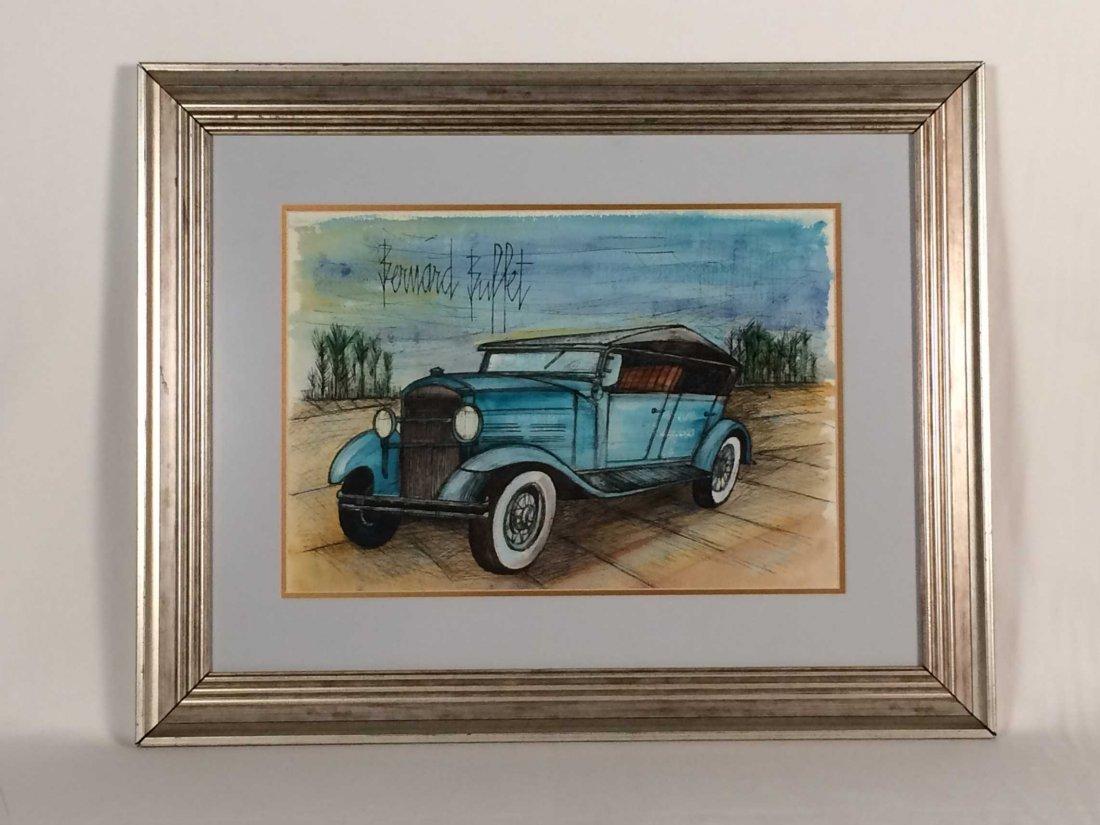 "Original Ink and Watercolor Signed ""Bernard Buffet"""