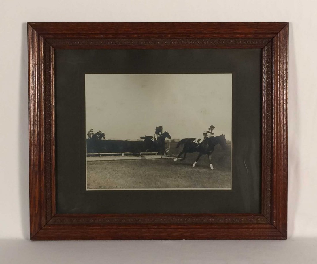 Two Framed Antique Photographs of 1918 Kentucky Derby