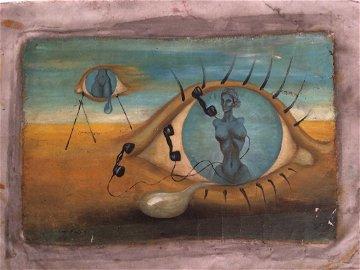 "Original Oil Painting Signed ""Salvador Dali"""