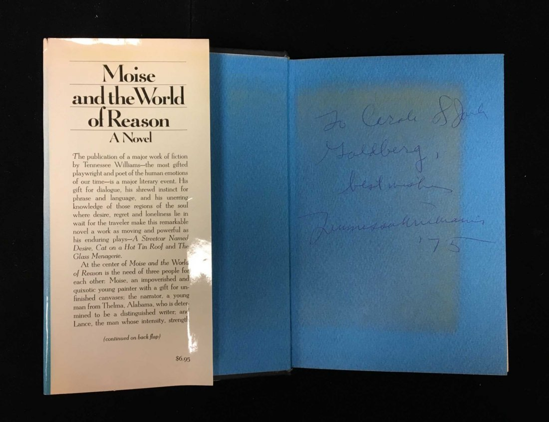 First Edition Tennessee Williams - Signed and Inscribed - 2