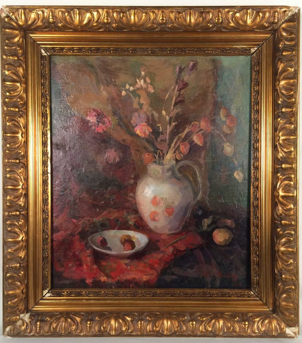 "Original Oil on Canvas Signed ""Boris Anisfeld"""