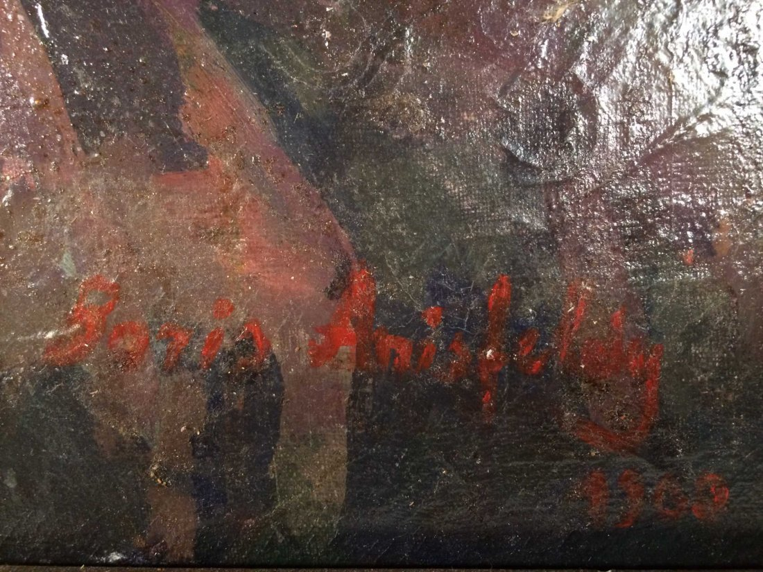 "Original Oil on Canvas Signed ""Boris Anisfeld"" - 6"