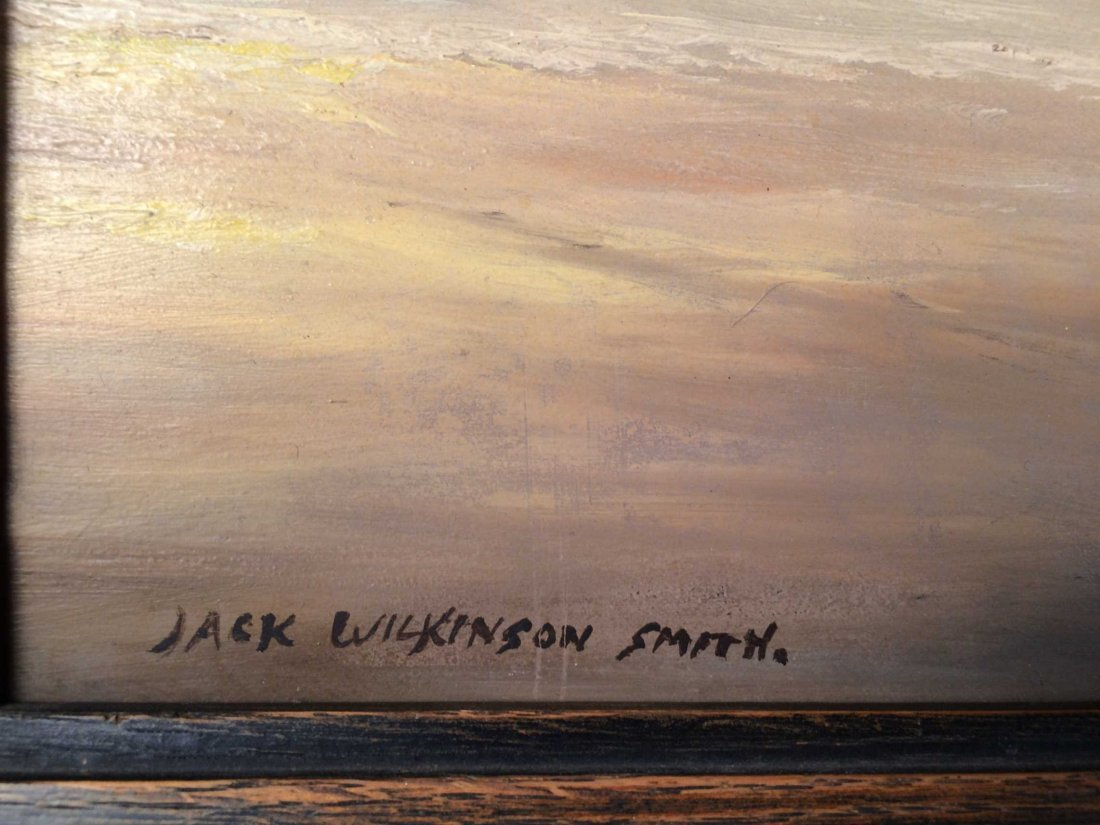 "Original Oil on Masonite Signed ""Jack Wilkinson Smith"" - 3"