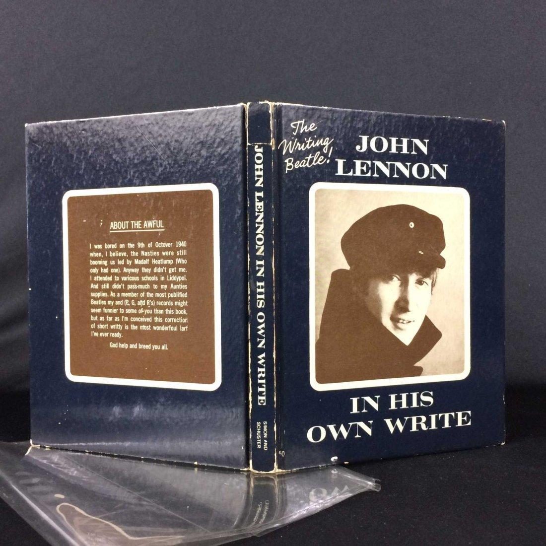John Lennon Book Signed & Inscribed w/ Original Sketch!