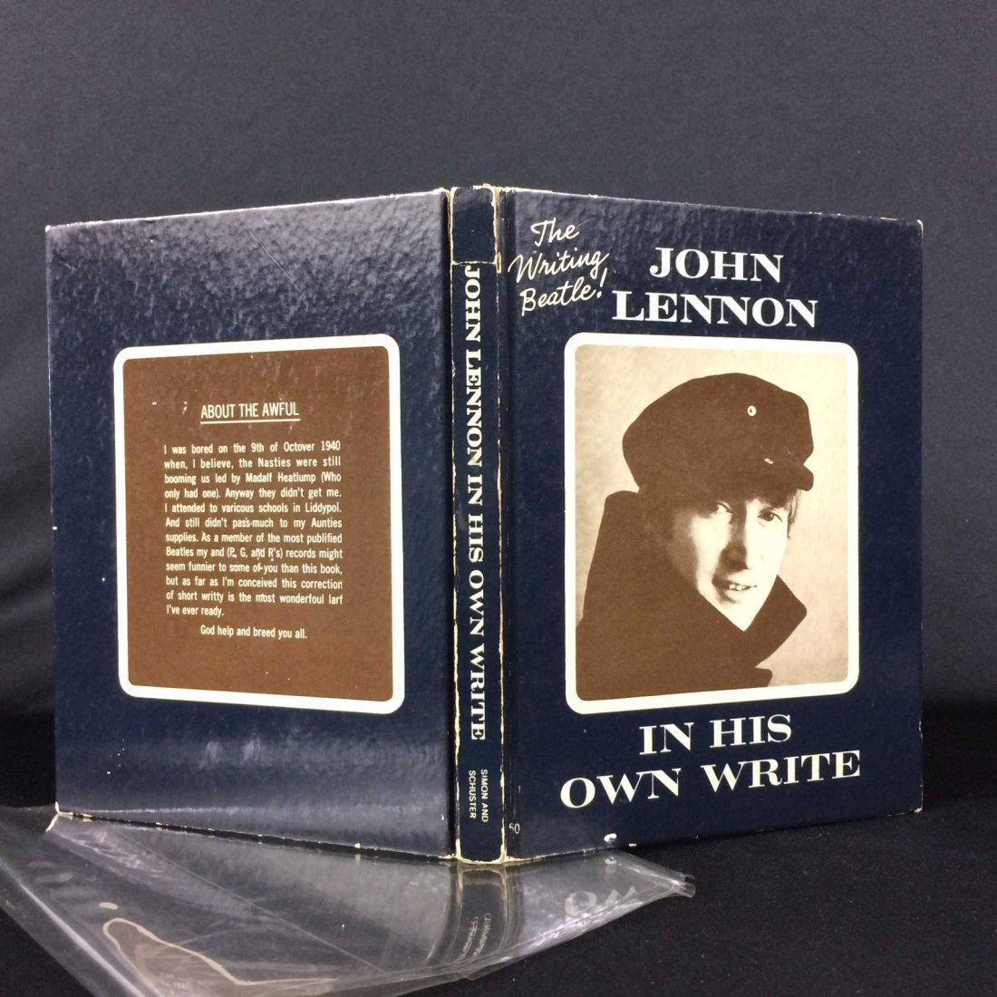 John Lennon Book Signed & Inscribed w/ Original Sketch!