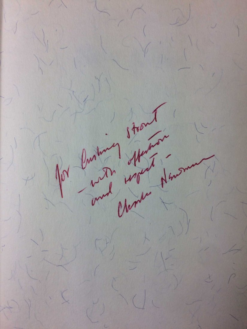 Signed and Inscribed Book by Charles Newman - 3