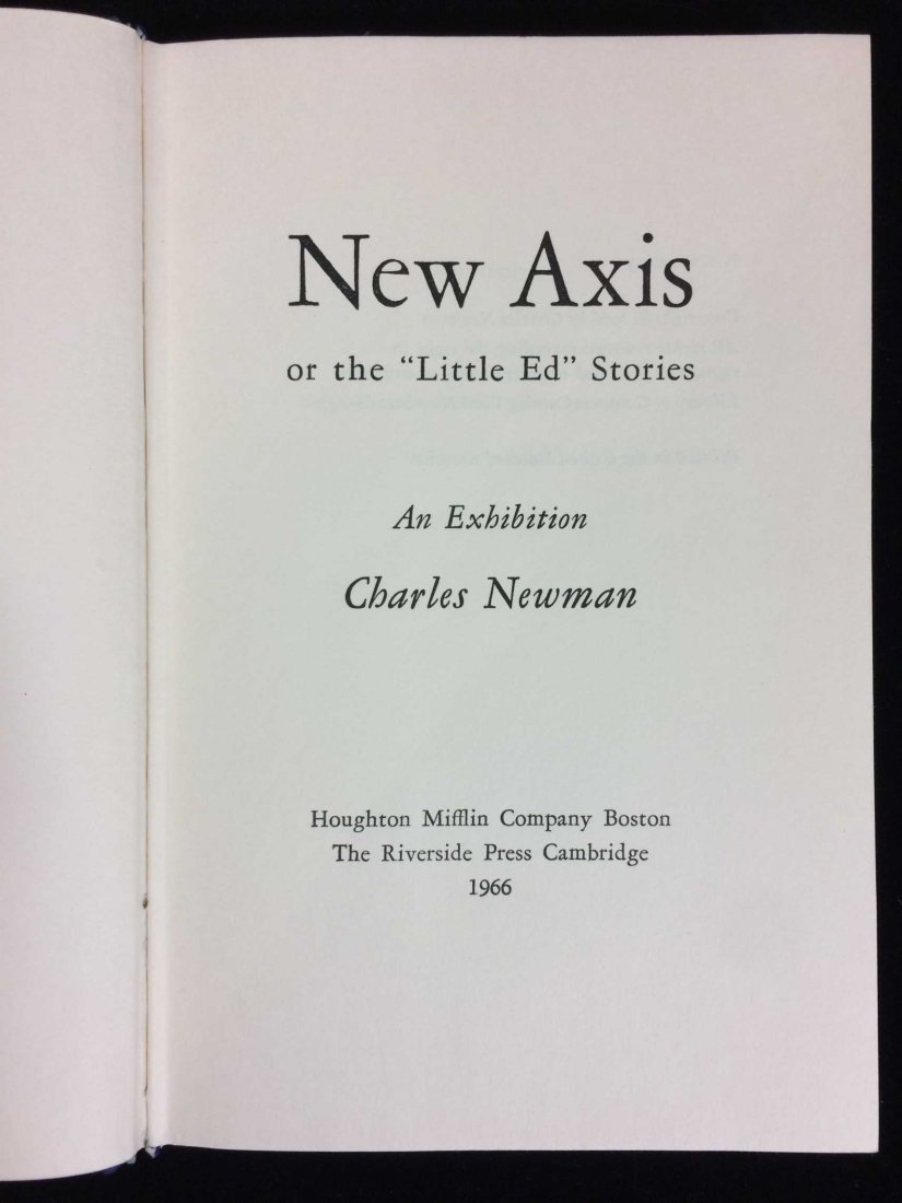 Signed and Inscribed Book by Charles Newman - 7
