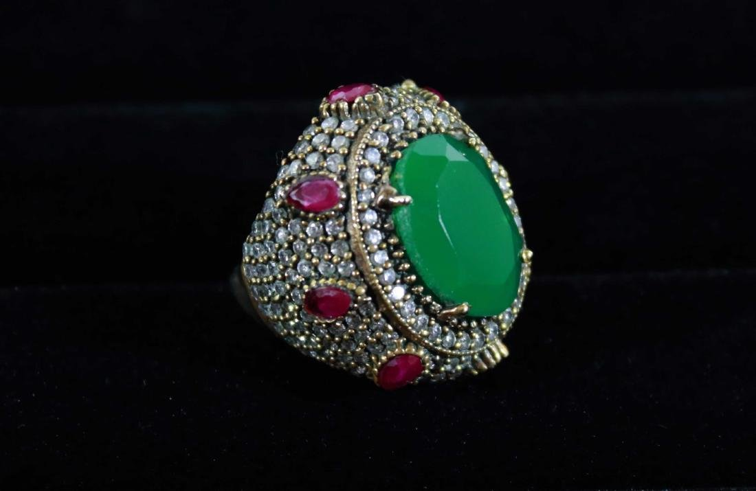 Royal Victorian Ring with Agate Pave