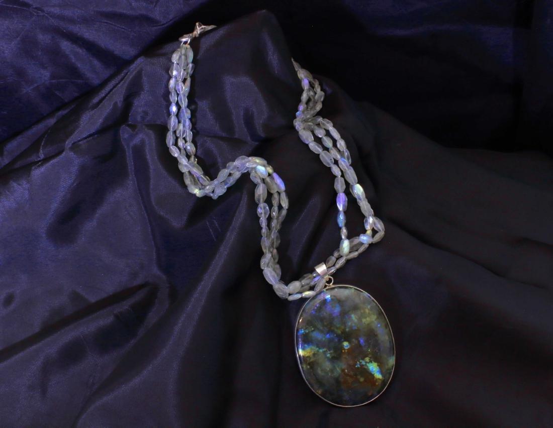 Labradorite Blue Fire Pendant & Necklace