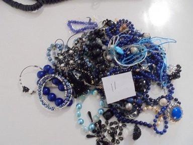 2LB ECLECTIC ASSORTD MIXED BLUE MODERN JEWLERY