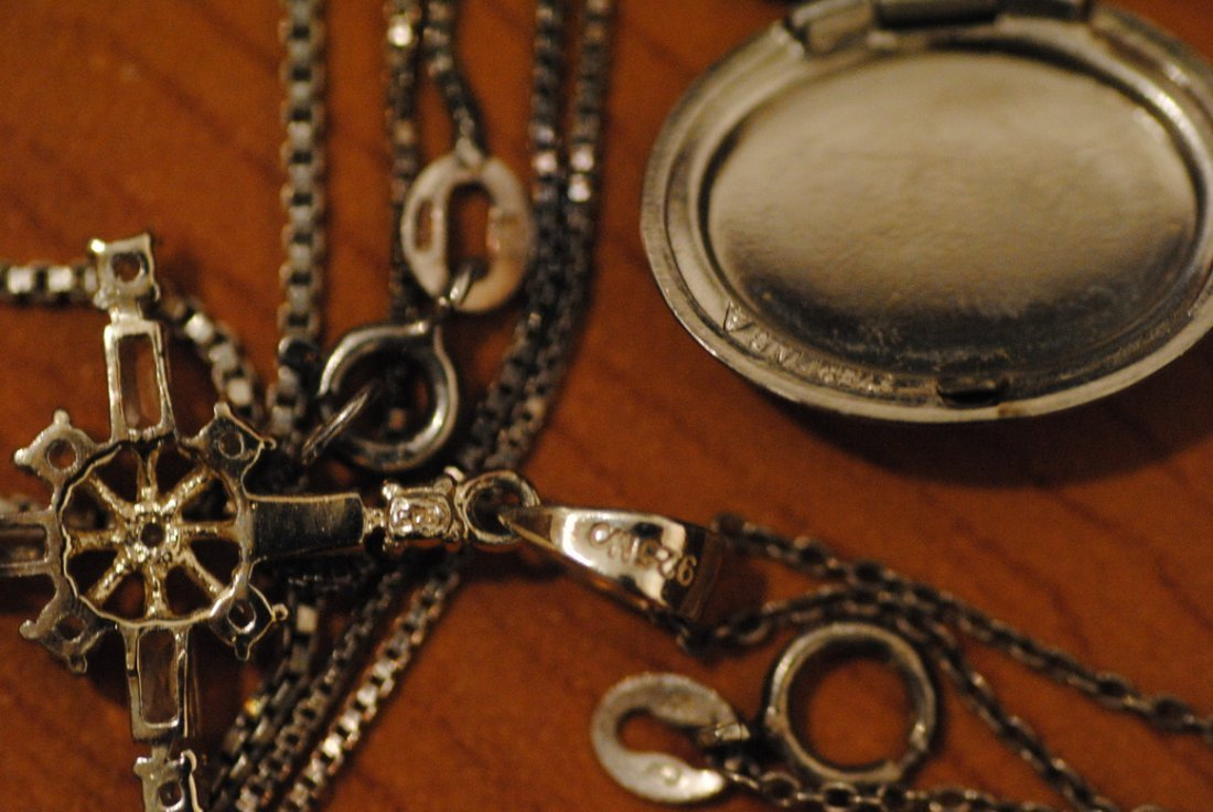 6 STERLING/925 NECKLACES & PENDENTS 35g - 3