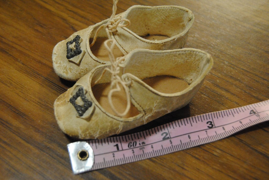 ORIGINAL ANTIQUE LEATHER DOLL SHOES