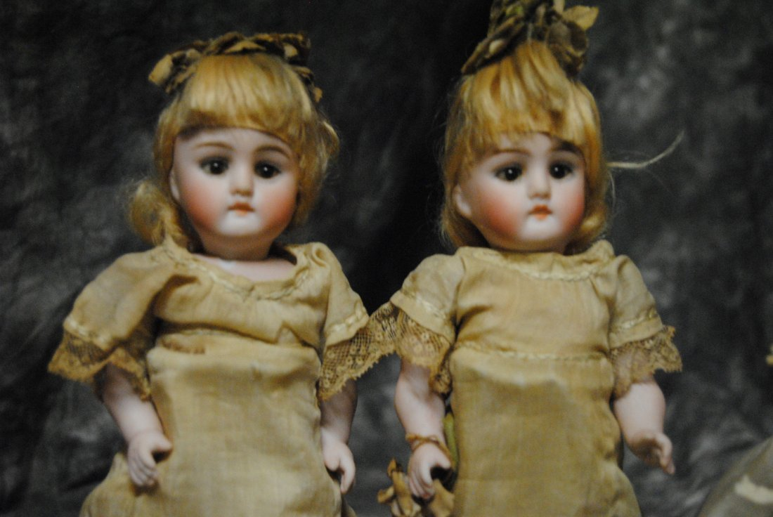 "RARE... LOT OF 4 ELEGANT KESTNER.. "" ALL BISQUE DOLLS "" - 3"