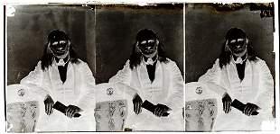 EDMUND RUFFIN. Photographer unknown. Strip of 3 glass