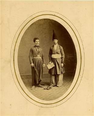 TURKISH SCHOLARS. Oval albumen print