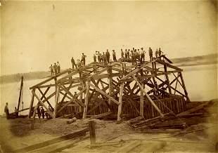 KANSAS CITY BRIDGE. Albumen print
