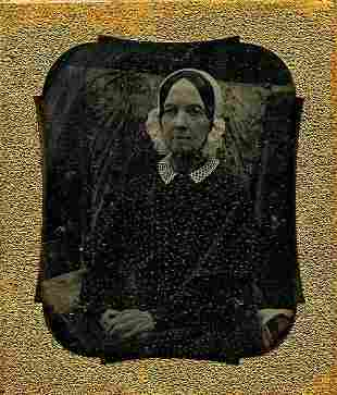 DAGUERROTYPE INVALID WOMAN PROPPED UP IN A CHAIR 16