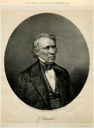 ZACHARY TAYLOR From Bradys Gallery of Illustrious
