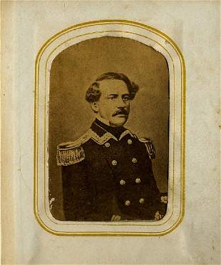 ALBUM OF 37 CDV NOTABLES. There is an early typed list