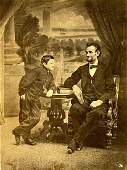 LINCOLN AND SON THADEUS BY GARDNER. 12 ¼ x 9 3/8 - inch