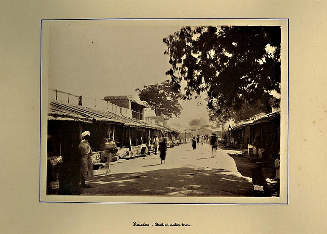 VIEWS OF INDIA, 1882. A large heavy photo album