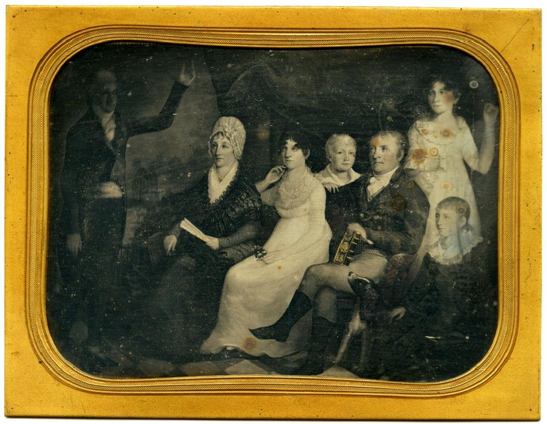 Notable family. Whole plate daguerreotype