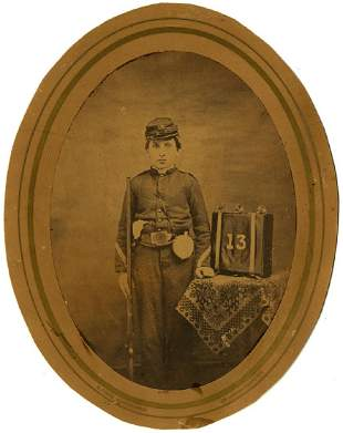 S. T. Reed, New York. Young Civil War soldier.