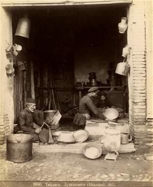 Dmitri Ermakov (1846 -1916). Tinsmith shop in Tblisi