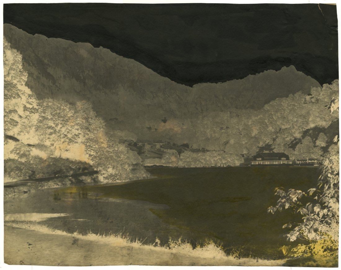Dr. John Murray. Landscape in India. Waxed calotype