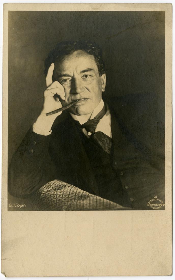 Frantisek Drtikol, Two portraits of Eduard Vojan