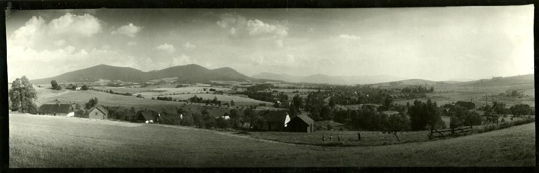 Josef Sudek, Two landscape panoramas, 1950's. Gelatin
