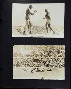 Jack Johnson-Jim Jeffries fight in Reno, July 4th 1910.