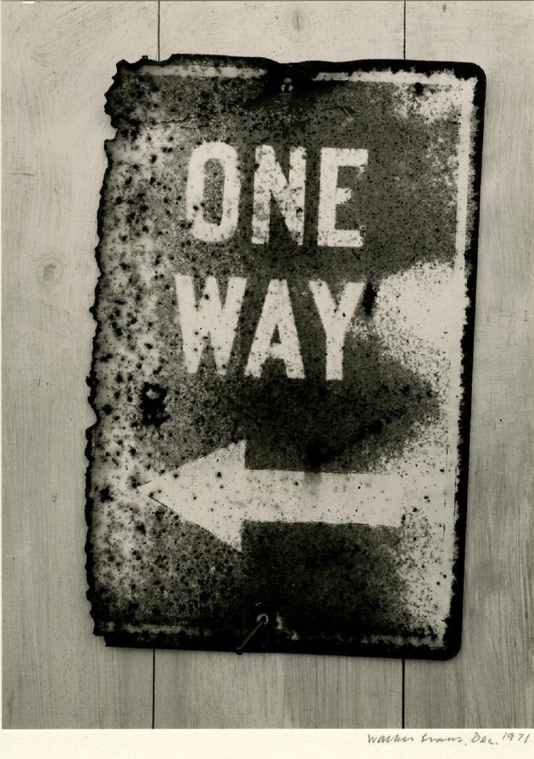 Walker Evans, Street Sign, 1971. Gelatin silver print,