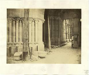 Charles Marville Cathedrale de Moulins Narthex 1863