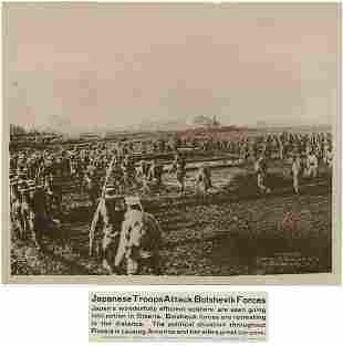 Japanese Troops Attack Bolshevik Forces in Siberia