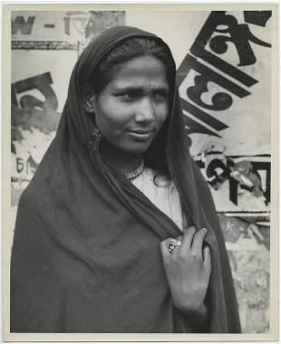John Gutmann 6 close portraits from India 1945