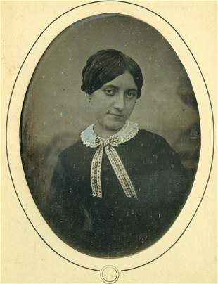 Louis-Auguste Bisson, Young woman. Daguerrotype
