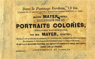 Mayer Brothers Paris Half plate daguerreotype