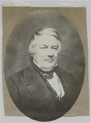 President Millard Fillmore. Salted paper print