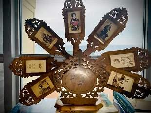 Folding fan display for CDV's, Circus, sideshow