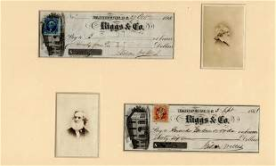 Personal checks from Gideon Welles to Mathew Brady and