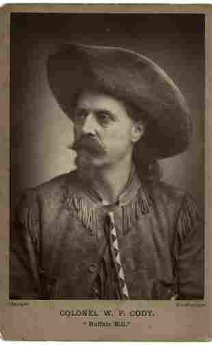 Buffalo Bill. Cabinet card from his 1887 tour.
