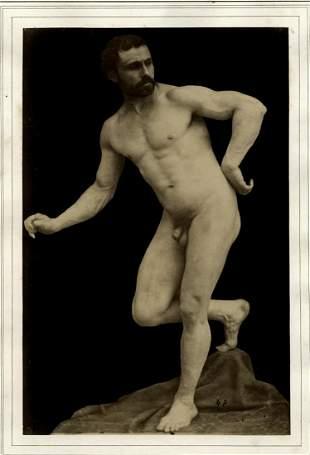 Guglielmo Marconi, Male nude study. 1870's.