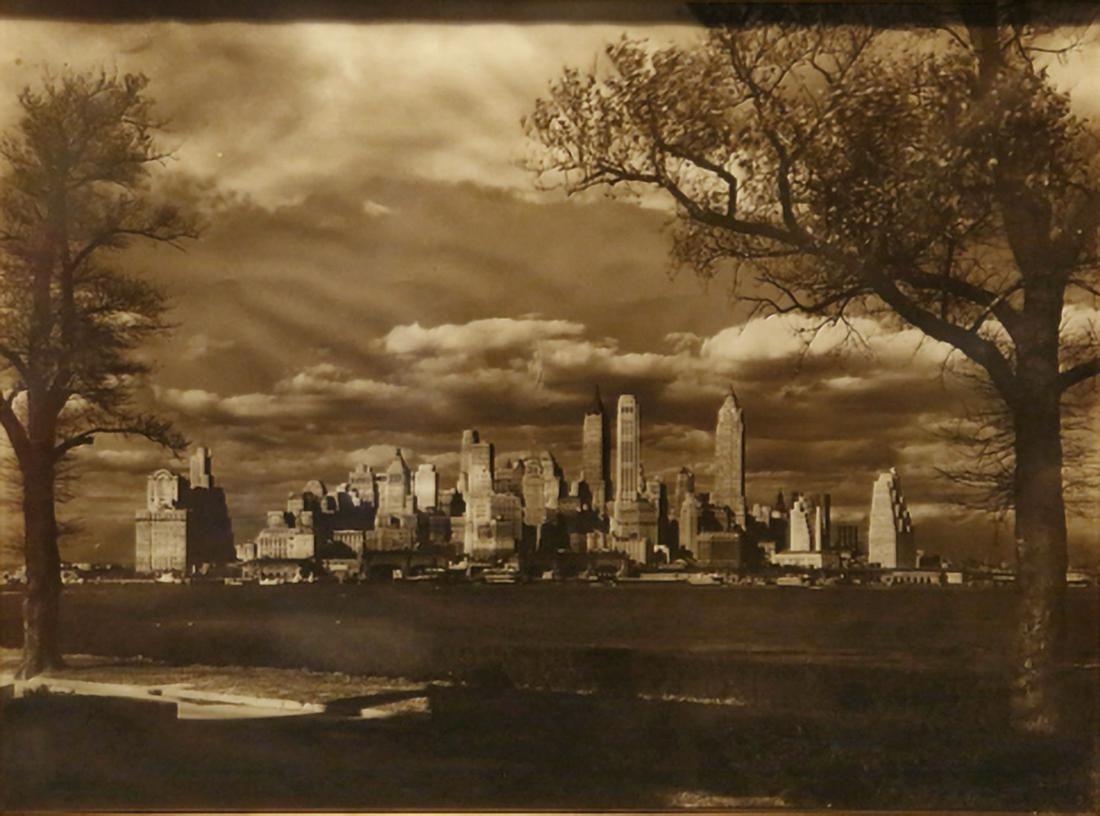 Manhattan skyline from Governor's Island, ca. 1920.