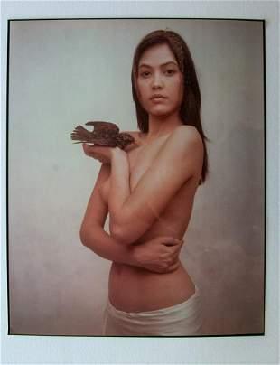 Joyce Tenneson. Woman with bird.